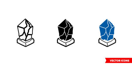 Lisk icon of 3 types color, black and white, outline. Isolated vector sign symbol.