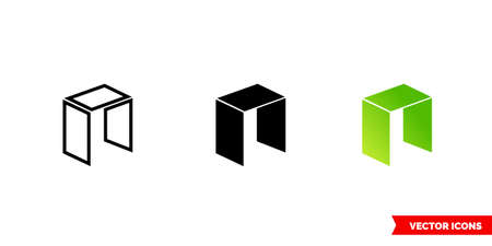 Neo icon of 3 types color, black and white, outline. Isolated vector sign symbol. Illusztráció