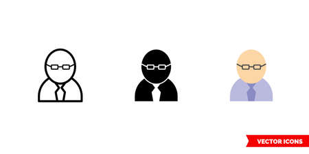 Professional icon of 3 types color, black and white, outline. Isolated vector sign symbol.