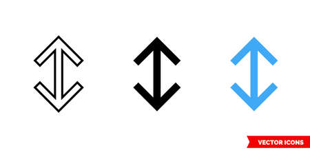 Scroll icon of 3 types color, black and white, outline. Isolated vector sign symbol.