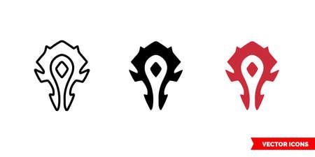 Horde symbol icon of 3 types. Isolated vector sign symbol. Vektoros illusztráció