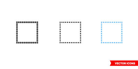 Select none icon of 3 types. Isolated vector sign symbol.