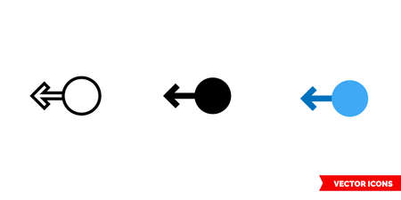 Swipe right icon of 3 types. Isolated vector sign symbol.