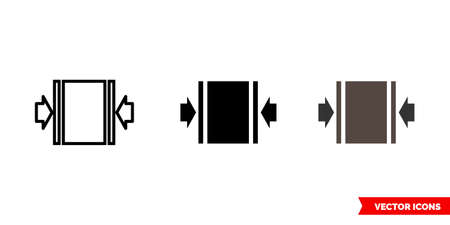 Clamp here icon of 3 types. Isolated vector sign symbol. Иллюстрация