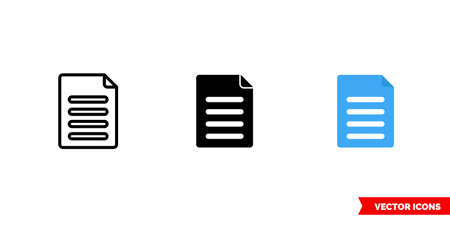 Content icon of 3 types. Isolated vector sign symbol.