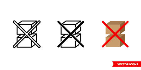 Do not stack icon of 3 types. Isolated vector sign symbol.