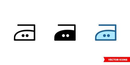 Iron maximum temperature 150C icon of 3 types. Isolated vector sign symbol.