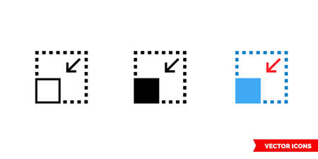 Size icon of 3 types. Isolated vector sign symbol.
