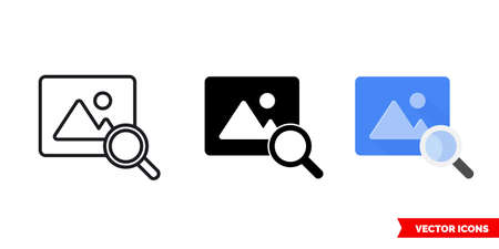 Preview icon of 3 types. Isolated vector sign symbol.
