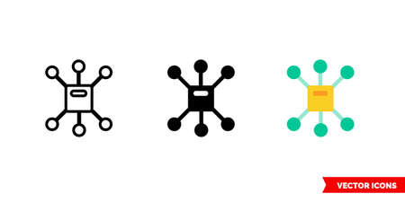 Multichannel icon of 3 types.