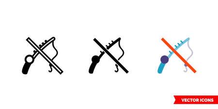 No fishing icon of 3 types.