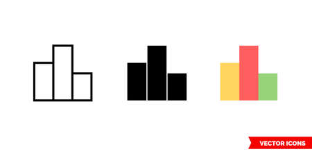 Leaderboard icon of 3 types. Isolated vector sign symbol.
