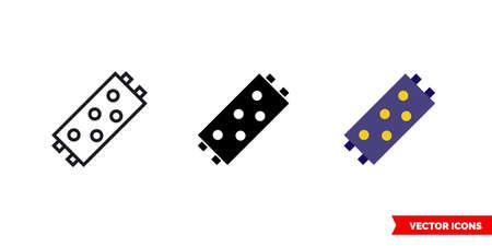 Led bulb icon of 3 types. Isolated vector sign symbol. Ilustracja