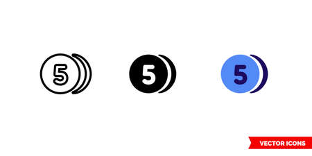 Average icon of 3 types. Isolated vector sign symbol.