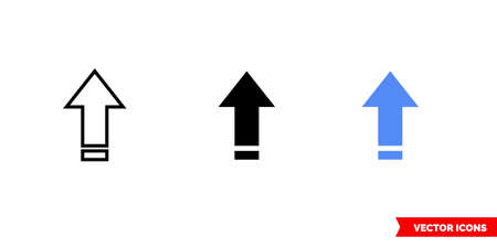 Caps lock on icon of 3 types. Isolated vector sign symbol.