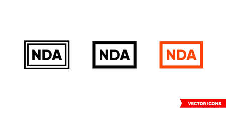 NDA icon of 3 types. Isolated vector sign symbol. Illusztráció