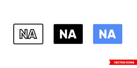 Not applicable icon of 3 types. Isolated vector sign symbol.