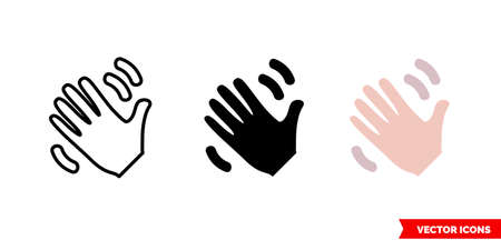 So so hand icon of 3 types. Isolated vector sign symbol.