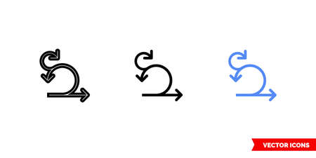 Sprint iteration icon of 3 types. Isolated vector sign symbol. 일러스트
