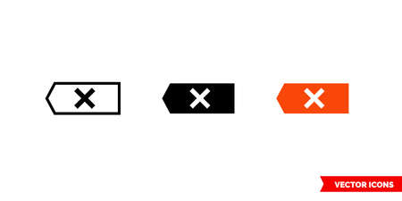 Clear icon of 3 types. Isolated vector sign symbol.