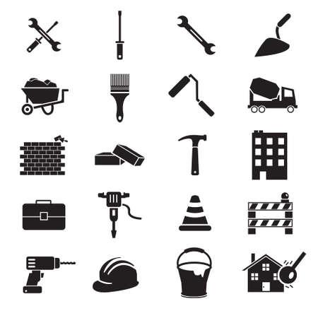 Construction vector icon set Illustration