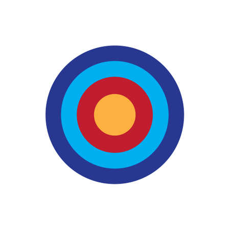 Arrow target, bulls eye vector icon simple design color