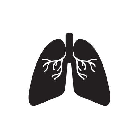 Lungs medical vector icon, respiratory system icon