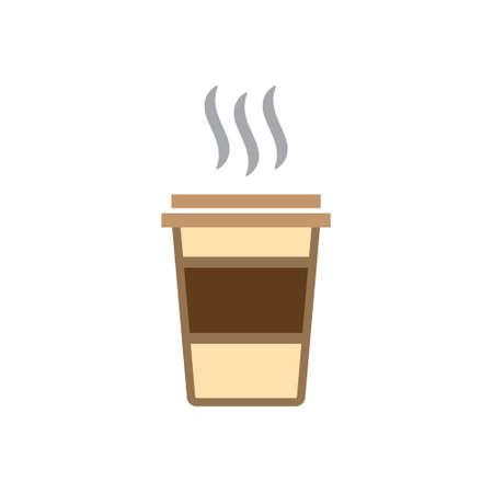 tasse à café café à emporter couleur d & # 39; icône de vecteur