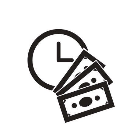 time is money vector icon design. business icon Vectores