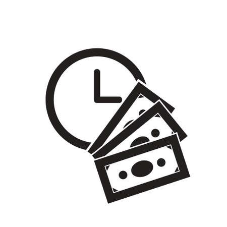 time is money vector icon design. business icon Ilustração