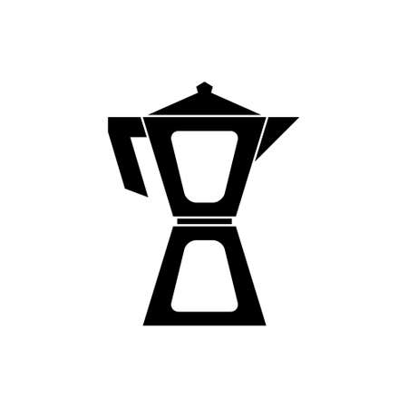 Coffeemaker, coffee pot vector icon Ilustracje wektorowe