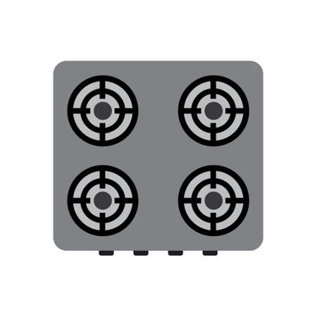 Cooker, stove, kitchen appliance vector icon Illustration