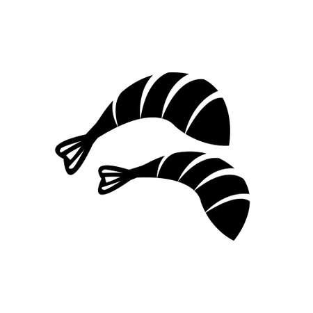 Shrimp or prawn, sushi vector icon