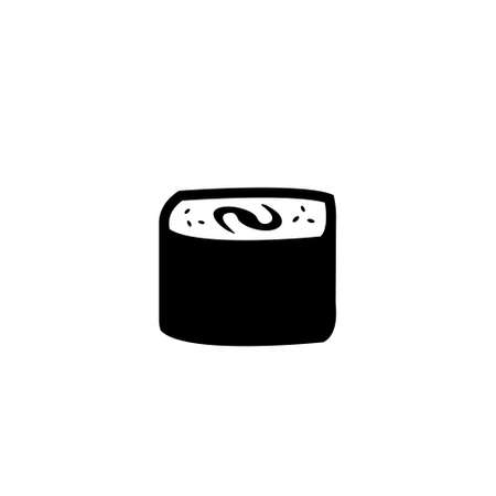 Sushi roll vector icon