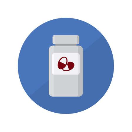 Medicine bottle with pills vector icon Stock fotó - 144711535