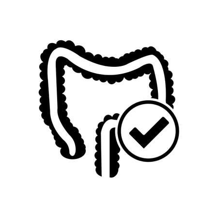 Probiotic bacteria culture vector icon, health, nutrition icon