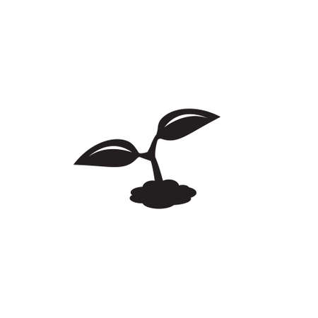 Science, plant sprout vector icon, nature growth icon