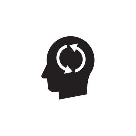 Man head mind thinking vector icon Illusztráció