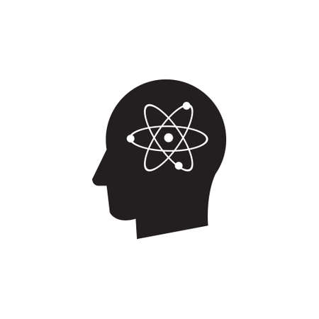 Man head thinking atom vector icon Stock fotó - 144711640