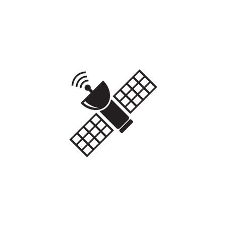 Space satellite vector icon Illustration