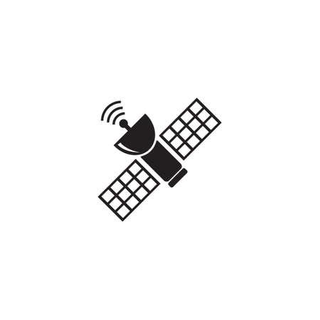 Space satellite vector icon Illusztráció