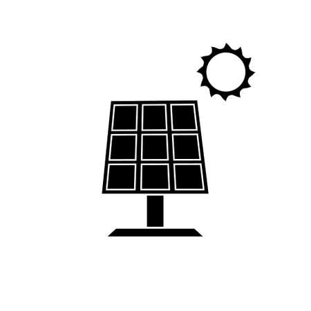 Solar panel renewable energy vector icon