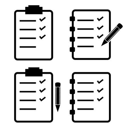 To do list, check list clipboard vector icon set