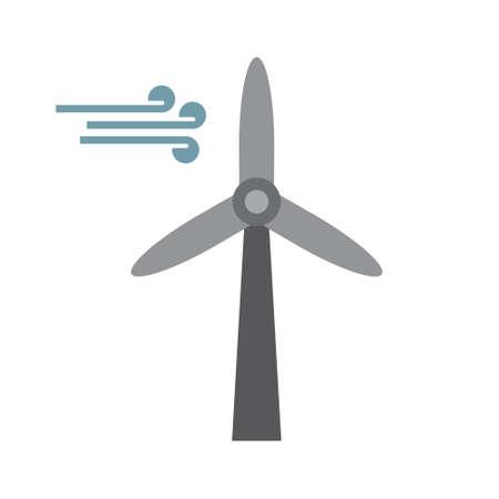 Wind turbine, renewable energy vector icon Illusztráció