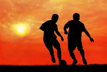 two soccer players catching the ball Stock Photo - 13193878