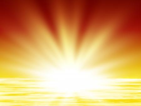 sol radiante: amanecer en el mar, la ilustraci�n