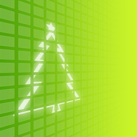 christmas tree on green digital wall background photo