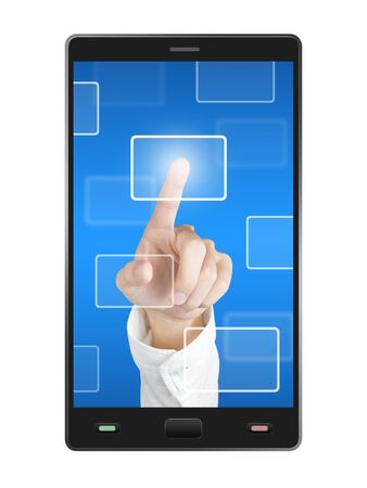 mobile phone touch screen photo