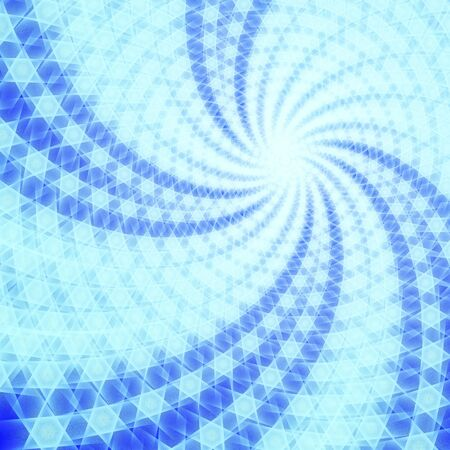 extend: radial flowing blue stars texture