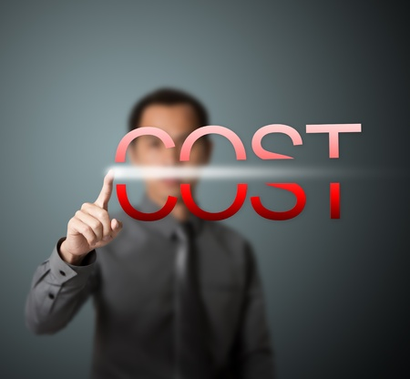 hombre de negocios la reducción de costes